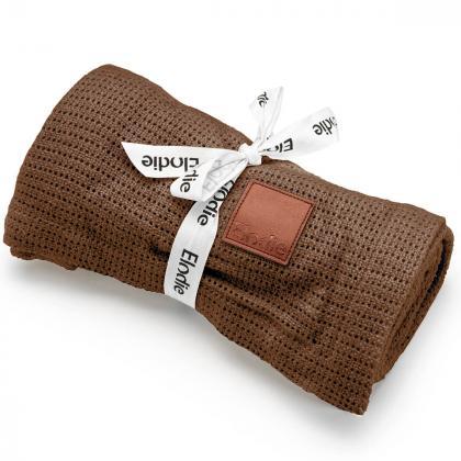 Elodie® Tanka otroška pletena odejica Chocolate