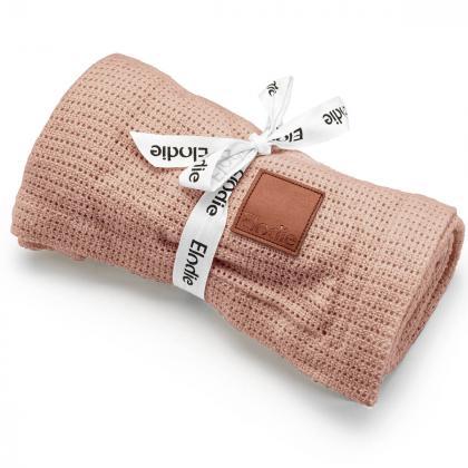 Elodie® Tanka otroška pletena odejica Powder Pink