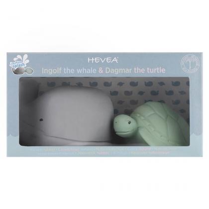 Hevea® Darilni set igračk za kopanje Kit in želvica