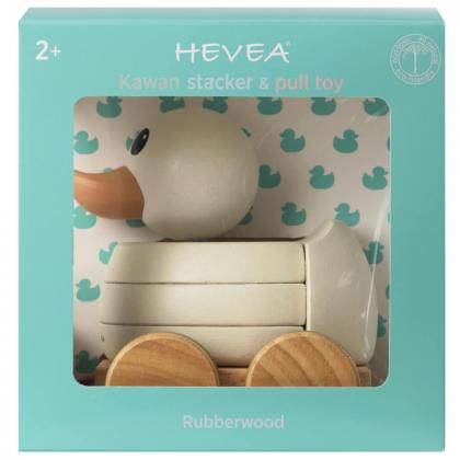 Hevea® Kawan račka lesena sestavljanka na kolesih