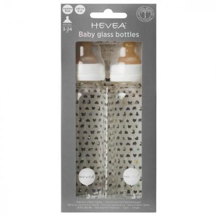 Hevea® Set 2 stekleničk za dojenčka 240 ml