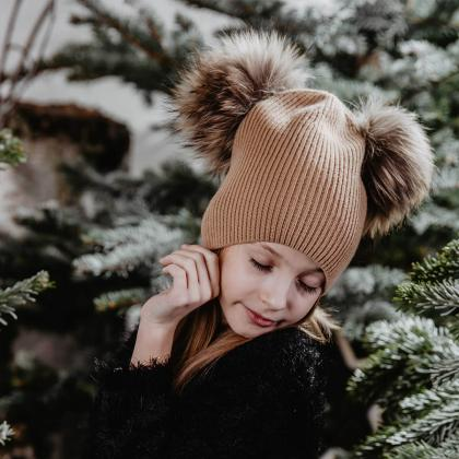 Jamiks® Otroška zimska kapica Ganza Caramel
