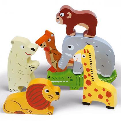 Janod® Lesena sestavljanka Živalski vrt