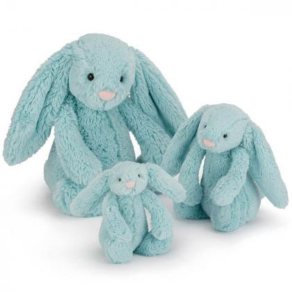 Jellycat® Plišasti zajček Bashful Aqua Bunny
