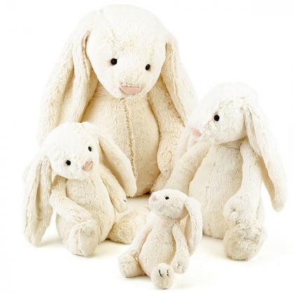 Jellycat® Plišasti zajček Bashful Cream Bunny