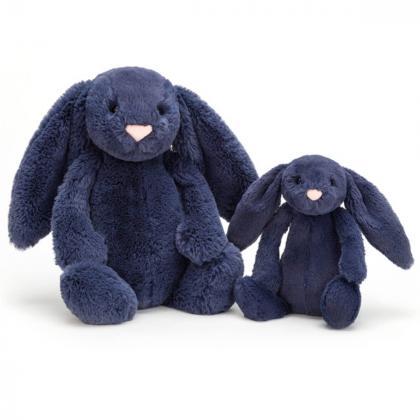 Jellycat® Plišasti zajček Bashful Navy Bunny