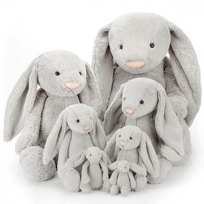 Jellycat® Plišasti zajček Bashful Silver Bunny