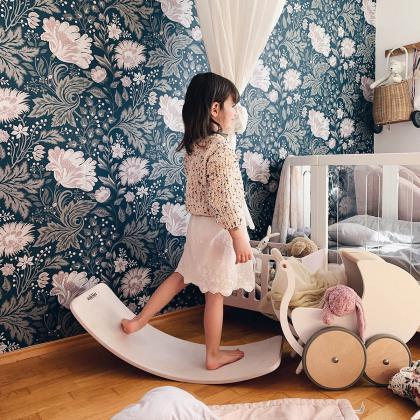 Kinderfeets® Lesena ravnotežna deska Kinderboard White Wash