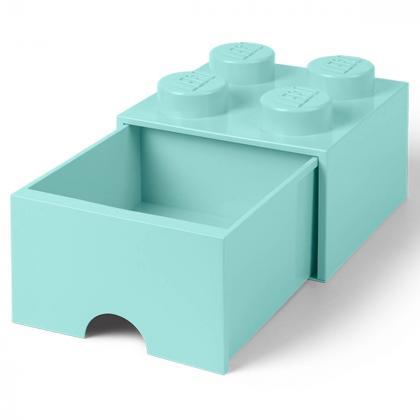 Lego® Kocka s predalnikom za shranjevanje 4 Aqua