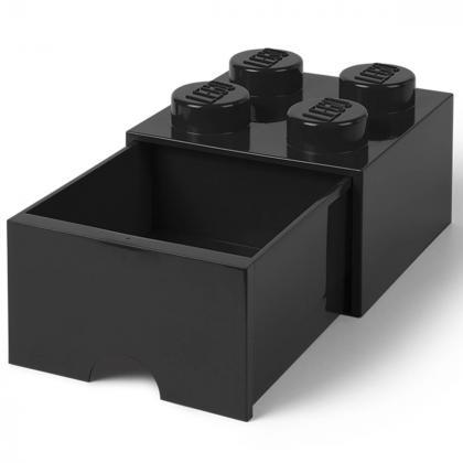 Lego® Kocka s predalnikom za shranjevanje 4 Black