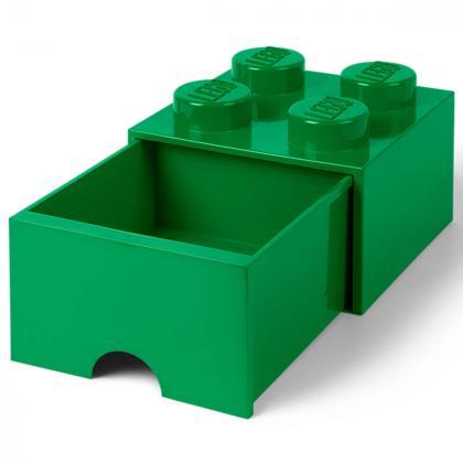 Lego® Kocka s predalnikom za shranjevanje 4 Dark Green