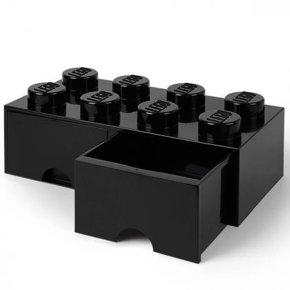 Lego® Kocka s predalnikom za shranjevanje 8 Black