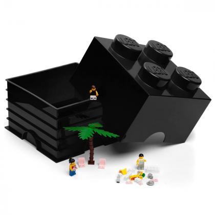 Lego® Kocka za shranjevanje 4 Black