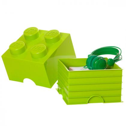 Lego® Kocka za shranjevanje 4 Bright Yellow Green