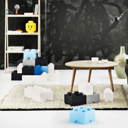 Lego® Kocka za shranjevanje 4 Medium Stone Grey