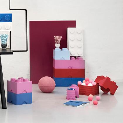 Lego® Kocka za shranjevanje 8 Light Purple