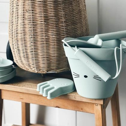 Liewood® Igralni set za na plažo Dante Cat Dusty Mint