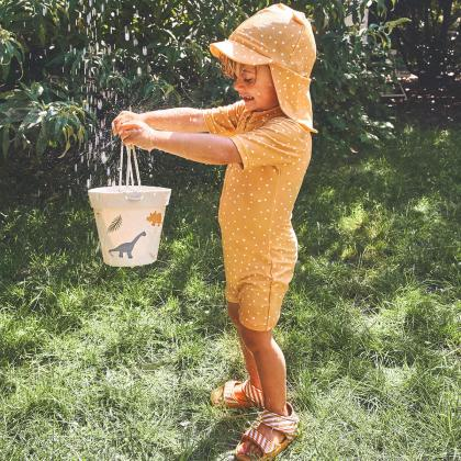Liewood® Kopalni pajac z rokavi Max Confetti Yellow Mellow