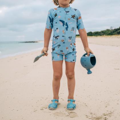 Liewood® Kopalni pajac z rokavi Max Sea Creature Mix