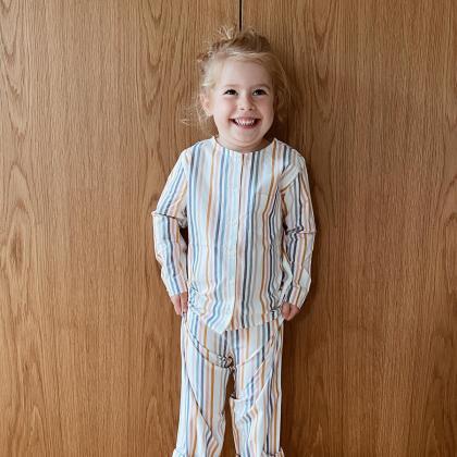 Liewood® Otroška dvodelna pižamica Olly Stripe Multi