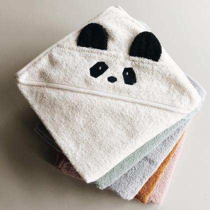 Liewood® Otroška kopalna brisačka Augusta Panda Hunetr Green