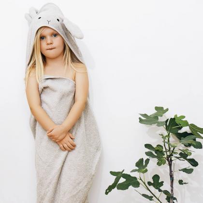 Liewood® Otroška kopalna brisačka Augusta Rabbit Dumbo Grey