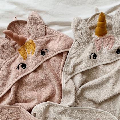 Liewood® Otroška kopalna brisačka Augusta Unicorn Sorbet Rose