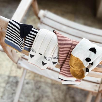 Liewood® Otroške nogavice Silas Cat Sweet Rose 2 para