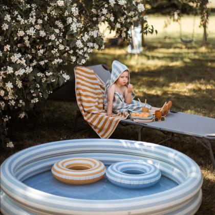 Liewood® Otroški bazen Savannah Stripe Sea Blue/Creme