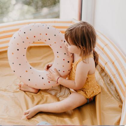 Liewood® Otroški bazen Savannah Stripe Yellow Mellow/Creme