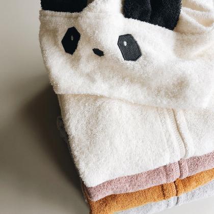 Liewood® Otroški kopalni plašček Lela Panda Creme