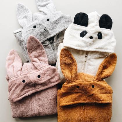 Liewood® Otroški kopalni plašček Lily Rabbit Dumbo Grey