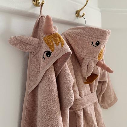 Liewood® Otroški kopalni plašček Lily Unicorn Sandy