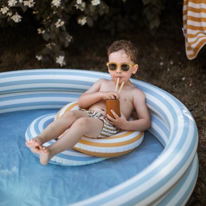 Liewood® Otroški obroč Baloo Stripe Sea Blue/Creme