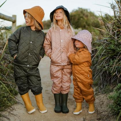 Liewood® Otroški škornji za dež River Yellow Mellow/Creme