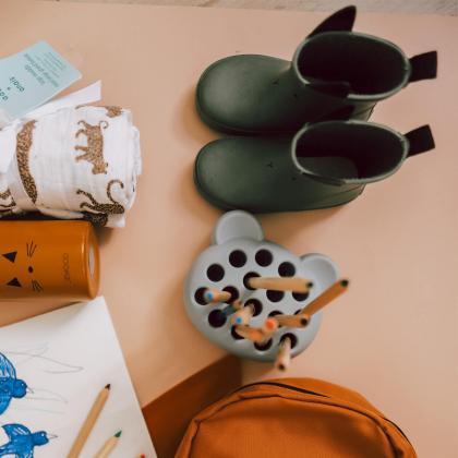 Liewood® Otroški škornji za dež Tobi Rabbit Faune Green