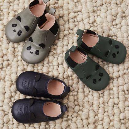 Liewood® Otroški usnjeni copatki Rabbit Grey