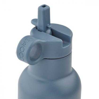 Liewood® Steklenička iz nerjavečega jekla s slamico Neo Rabbit Blue Wave 500ml