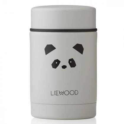 Liewood® Termo posodica za hrano Nadja Panda Light Grey 250ml
