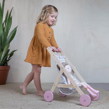 Little Dutch® Lesen voziček za punčke Spring Flowers