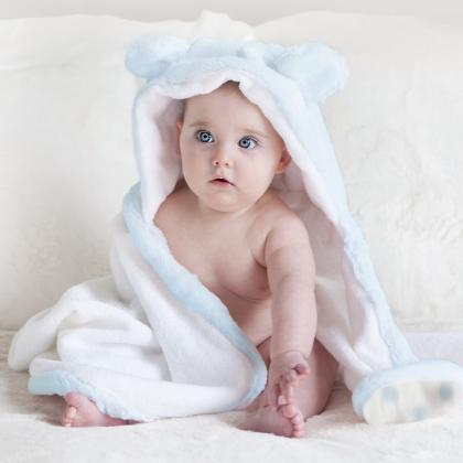 Little Giraffe® Otroška kopalna brisačka Luxe Blue