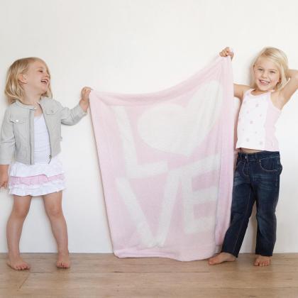 Little Giraffe® Otroška odejica Dolce LOVE Pink