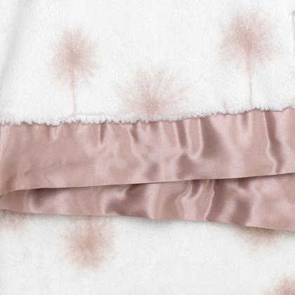Little Giraffe® Otroška odejica Luxe Dandelion Dusty Pink