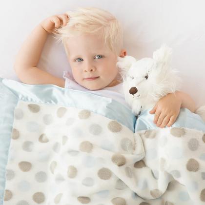 Little Giraffe® Otroška odejica Luxe Dot Blue
