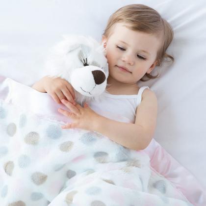 Little Giraffe® Otroška odejica Luxe Dot Pink