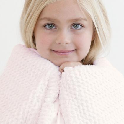 Little Giraffe® Otroška odejica Luxe Twist Pink