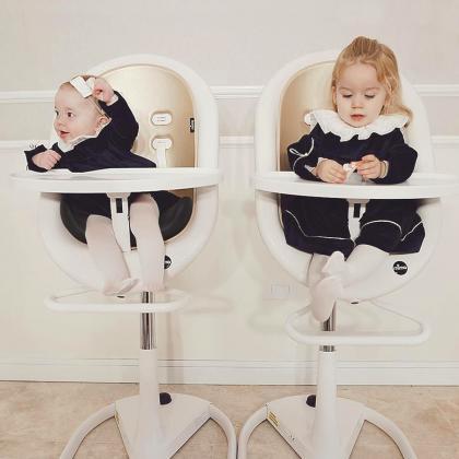 Mima® Moon™ White Otroški stolček za hranjenje Champagne