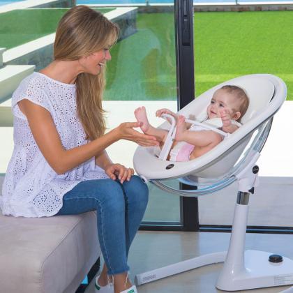 Mima® Moon™ White Otroški stolček za hranjenje Fucshia
