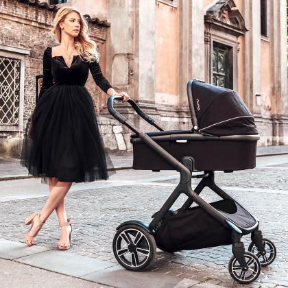 Nuna® Otroški voziček 3v1 Demi™ Grow Ebony + Pipa™ Next i-Size 0+ Caviar