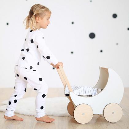 Ooh Noo® Lesen voziček za punčke White